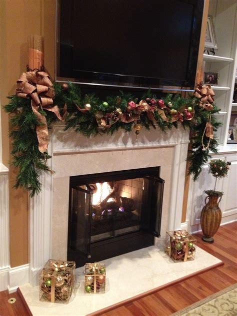 fireplace mantel christmas pinterest fireplace