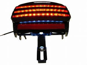 Smoke tri bar fender led tail brake light for harley dyna