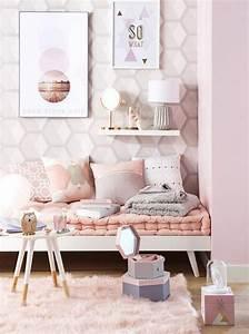 Décoration Murale Chambre Fille : deco chambre fille rose poudre ~ Teatrodelosmanantiales.com Idées de Décoration