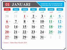 Kalender 2019 Jawa Lengkap Format PNG Full HD