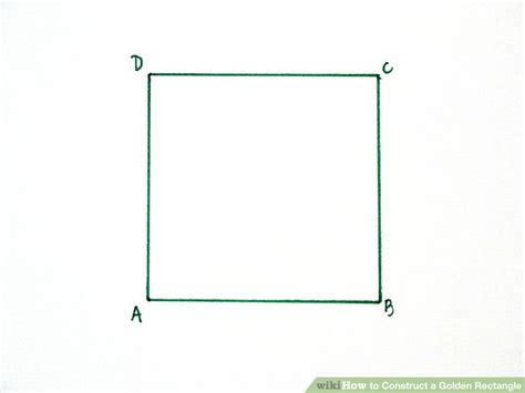 construct  golden rectangle  steps  pictures