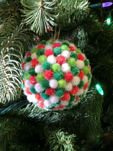 pom pom christmas tree ornaments thriftyfun