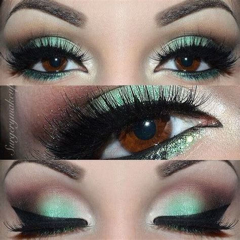 mint  brown eyeshadow eye makeup makeup eye