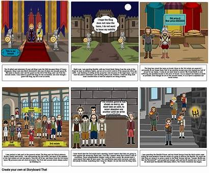 Revolution French Project Storyboard Slide