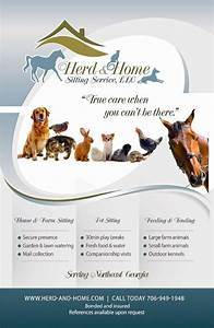 flyer design for local pet sitting company pet services With dog babysitting service