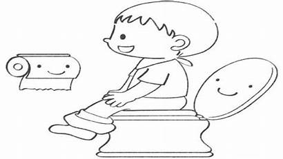 Potty Pages Drawing Toilet Coloring Restroom Bath