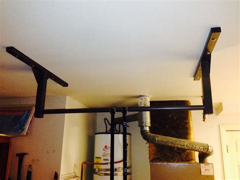 install pull up bar in garage what s better ceiling or wall mounting my pull up bar