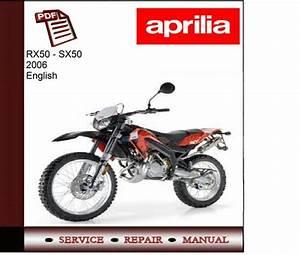 Aprilia Rx50-sx50 2006 Workshop Service Manual