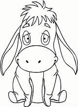 Disney Pooh Cartoon Kleurplaten Kleurplaat Ezeltje Knutselopdrachten Afkomstig sketch template