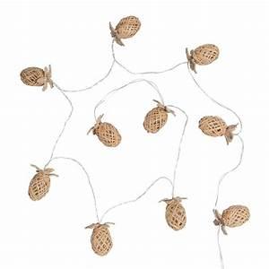 Guirlande Lumineuse Maison Du Monde : guirlande en bambou et rotin 10 led ananas maisons du monde pineapple stuff pinterest ~ Teatrodelosmanantiales.com Idées de Décoration