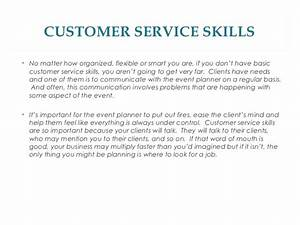 qualities of a good event planner With customer service skills examples