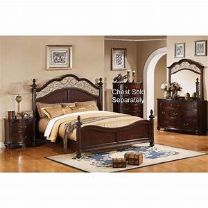 Derbyshire international furniture 6 piece queen bedroom set for Queen bedroom furniture