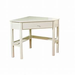 White Corner Desk: White Wood Corner Desk