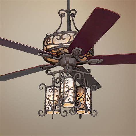 wrought iron ceiling fan 60 quot john timberland seville iron ceiling fan with remote
