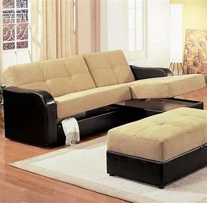 Mid century best modern sectional sleeper sofa with for Contemporary leather sectional sofas for small spaces