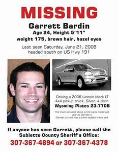 Garrett Bardin Missing - Pinedale Online News, Wyoming