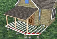 build a porch How to build a front porch: detailed direction