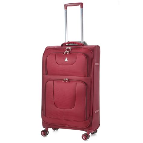 Light Weight Luggage by Aerolite Aero9978 600d Jacquard Ripstop 8 Wheel Spinner 26