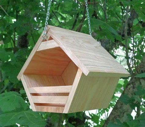 hanging rustic nesting shelter  robins  swampwoodcreations bird houses diy bird house
