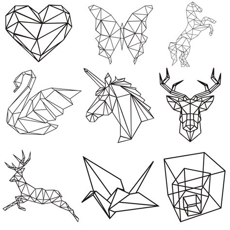 geometric animal series unicorn kids room wall sticker