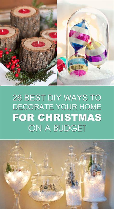 diy ways  decorate  home  christmas