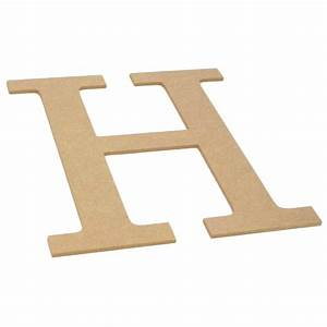 10quot decorative wood letter h ab2032 craftoutletcom With wooden letter h