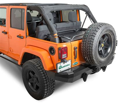 lowered jeep wrangler unlimited rage products 86623 rear interior sport rack for 07 17