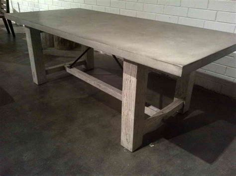how to make a concrete table top furniture how to make polished concrete table top