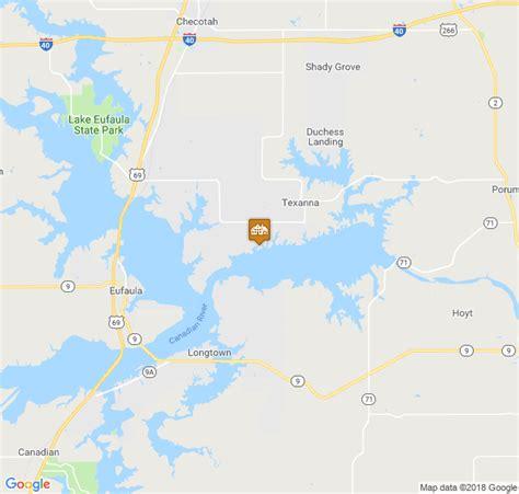 Map Of Lake Eufaula Oklahoma Maping Resources