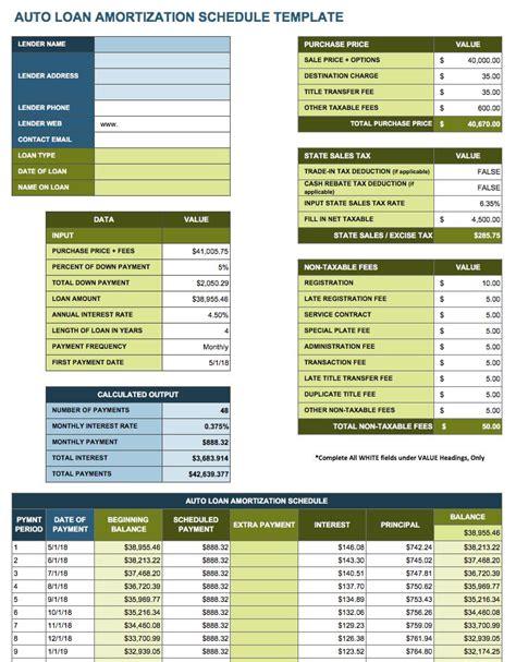 loan amortization table calculator mortgage amortization calculator template amortization