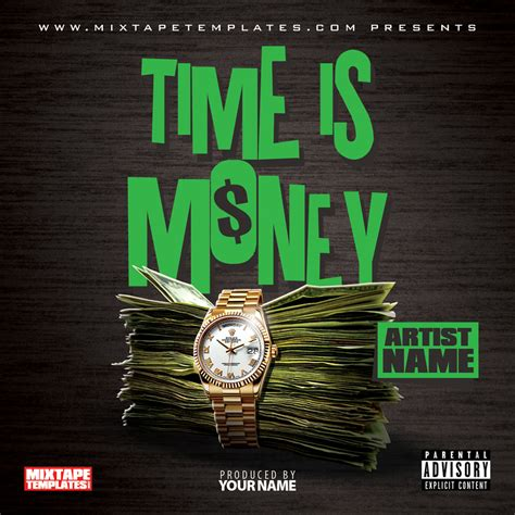 time  money mixtape cover template
