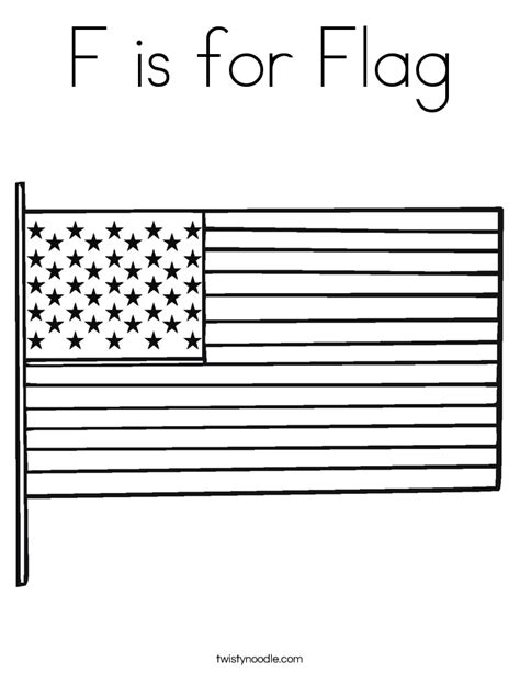 flag coloring page twisty noodle