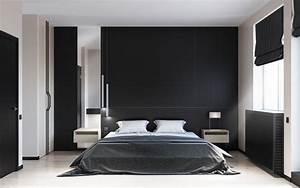 Deco Noir Et Blanc : d co noir et blanc chambre coucher 25 exemples l gants ~ Melissatoandfro.com Idées de Décoration