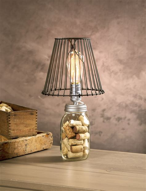 Love This Edison Bulb Wire Lamp Shade Look