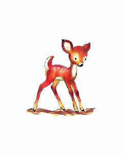 Baby Deer Watercolor - Spotted Fawn - Digital Clipart ...