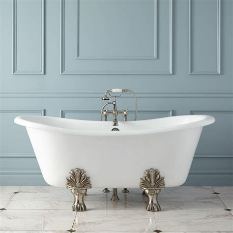 cast iron bathtub 72 quot langly cast iron slipper pedestal tub bathroom