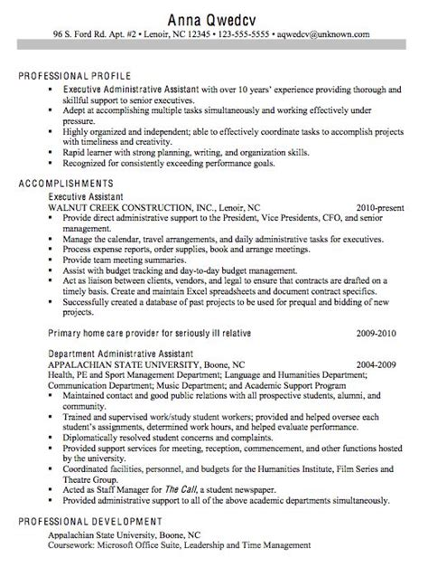 Executive Administrative Assistant Resume by 7 Best Resume Stuff Images On Resume Format
