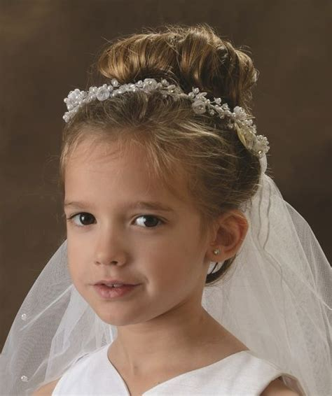 hair styles communion tiara with silver beading and roses 150029 32 9134