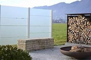 Trennwände Für Terrassen : siwa sichtschutzsystem aluminium und glas trennwand aus ~ Michelbontemps.com Haus und Dekorationen