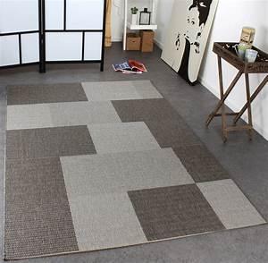 Teppich Grau Modern : teppich sisal optik karo grau design teppiche ~ Whattoseeinmadrid.com Haus und Dekorationen