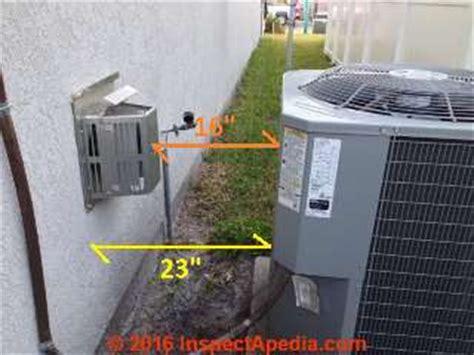 clearance distances  air conditioner heat pump