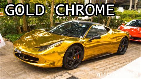 Gold Chrome Ferrari 458 Italia