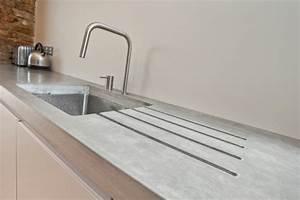 Küche Beton Arbeitsplatte : beton wand k che arbeitsplatte sp le simpel minimalistisch k che pinterest wand k che ~ Sanjose-hotels-ca.com Haus und Dekorationen