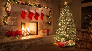decorated christmas tree in house wallpaper 11604 baltana