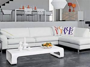 Photos canape d39angle cuir blanc roche bobois for Canapé d angle cuir roche bobois
