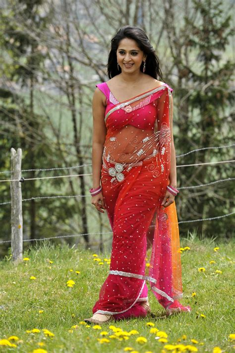 Anushka Hot Saree Stills From Mirchi Welcome To