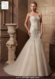 Robe Mariée 2016 : robe de mari e 2016 2017 bustier dentelles philippe apat ~ Farleysfitness.com Idées de Décoration