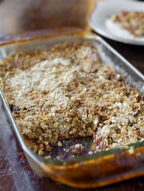 rhubarb crisp apple rhubarb crisp recipe dishmaps