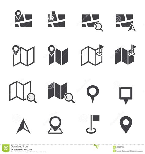 Built for fun by icons8. Map Icon Stock Vector - Image: 48806788