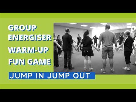 group energiser warm  fun game jump  jump